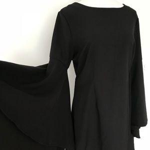 Dresses & Skirts - Flared sleeve black mini dress